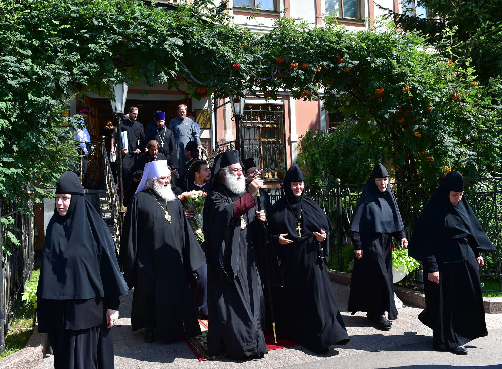 His Beatitude Patriarch Alexandria Theodore and representatives of the Local Churches completed the visit to the Intercession Monastery