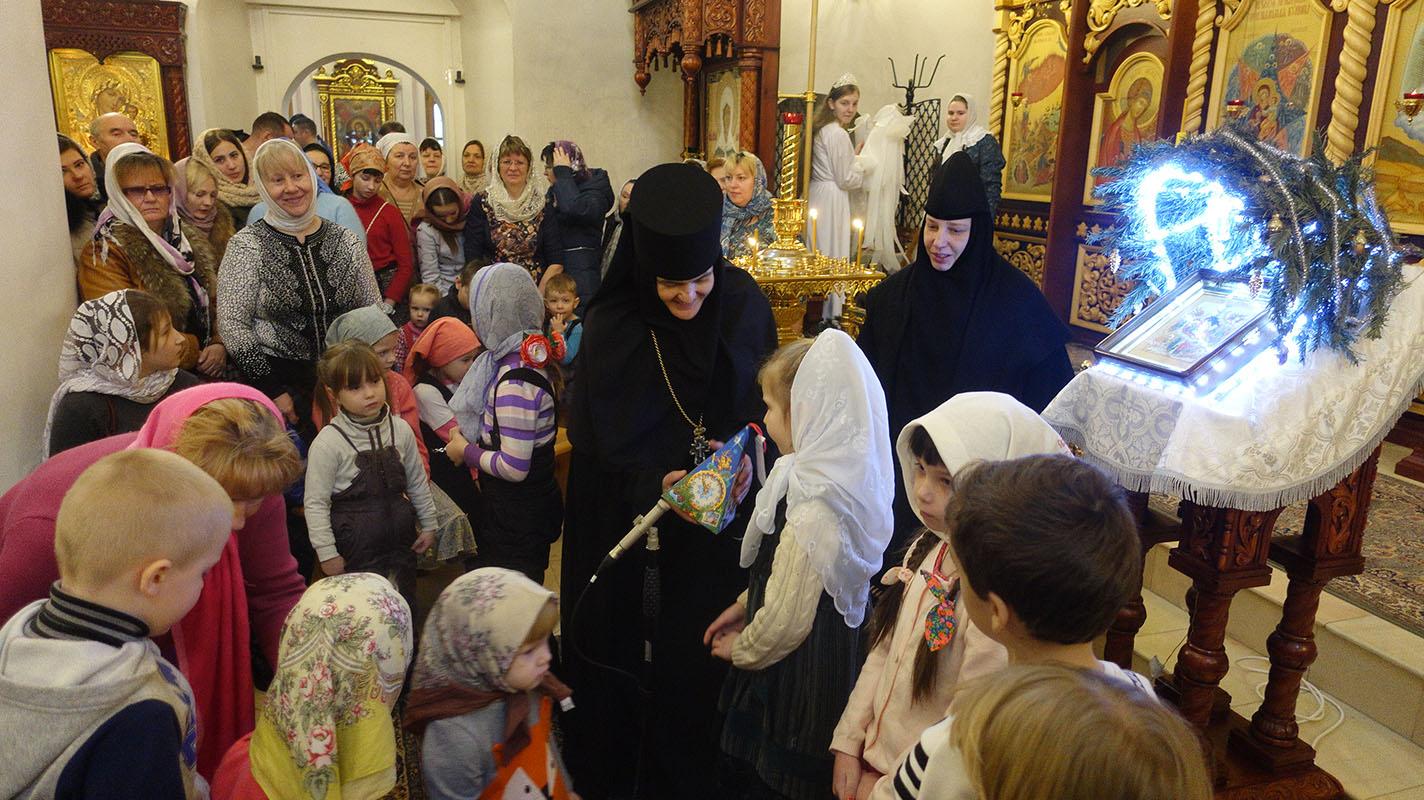 Рождественское представление в селе Марково