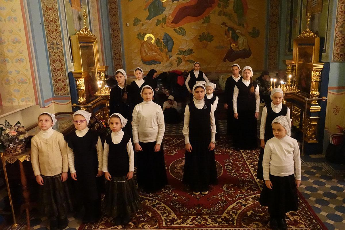 Всенощное бдение в праздник Крещения Господня в Троице-Лыково