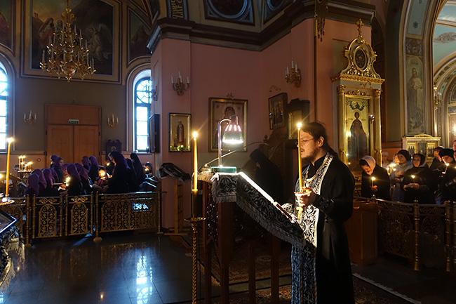 Среда первой седмицы Великого Поста в Покровском монастыре