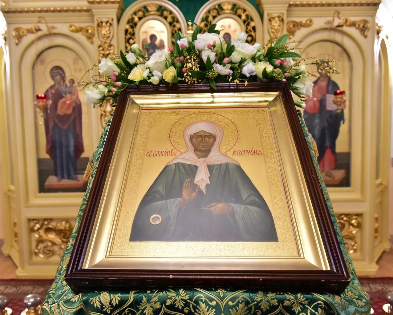 Всенощное бдение в канун праздника обретения мощей святой праведной Матроны