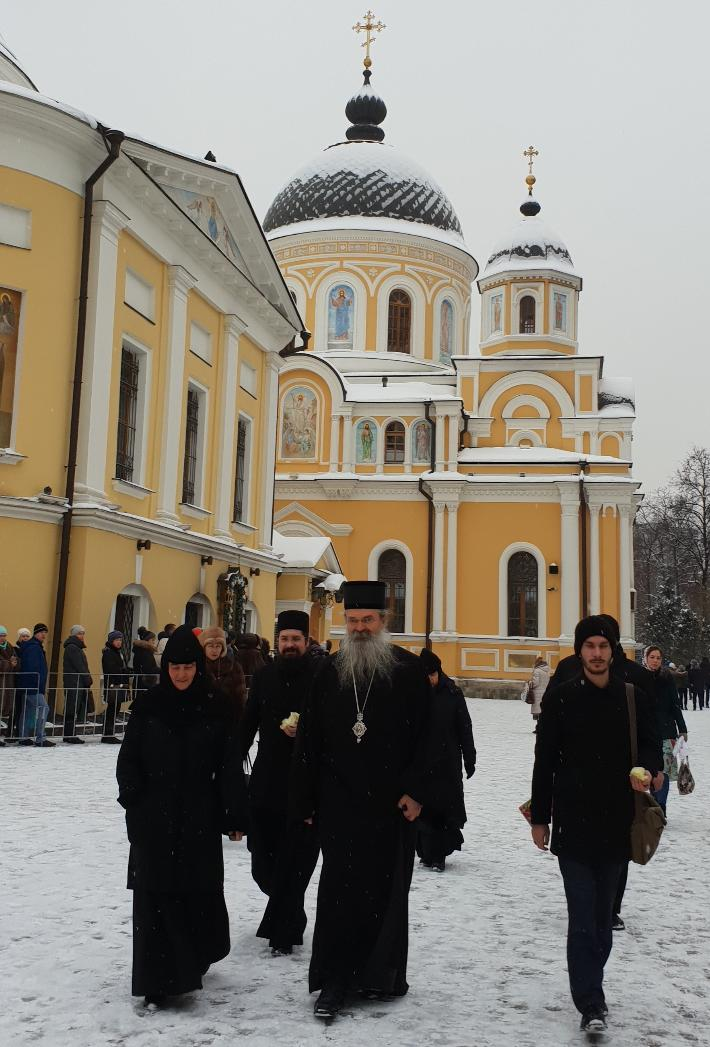 Сербская делегация в Покровском монастыре