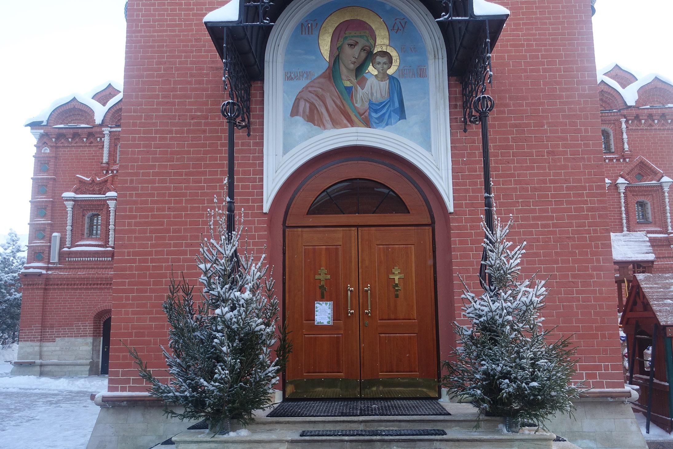 Рождество Христово на подворье Покровского монастыря в селе Марково
