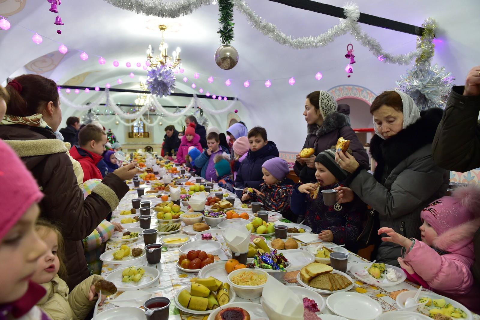 Рождественский спектакль на подворье Покровского монастыря в селе Марково