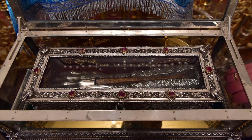 Мощи святителя Спиридона Тримифунтского прибыли в Покровский монастырь